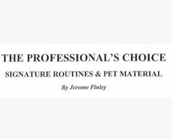 The Professionals Choice by Jerome Finley