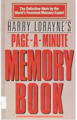 Harry Lorayne Memory Book Pdf